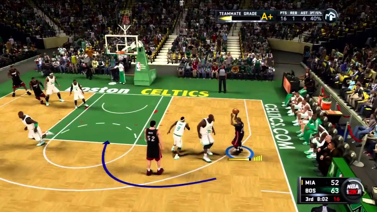 NBA 2K11 My Player Playoffs - CFG3 - Shaq is Back - YouTube