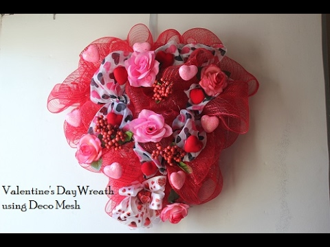 Valentine S Day Deco Mesh Wreath Youtube