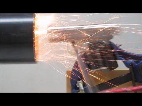DIY Sheet Metal Self-Loading Pistol ... Episode XI (First  fire)