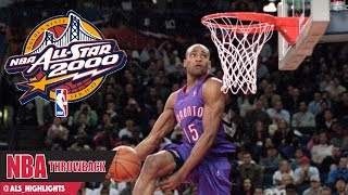 Vince Carter Full Highlights 2000 Slam Dunk Contest - HALF MAN HALF AMAZING!