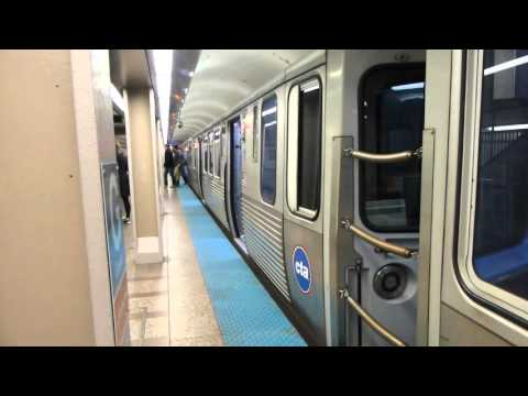 "CTA Transit: 2009-14 Bombardier 5000 Series ""L"" Red Line at Grand Station"