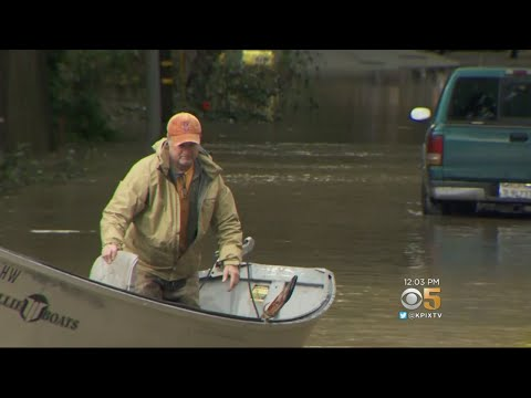 Guerneville Streets Flooded As Russian River Overflows
