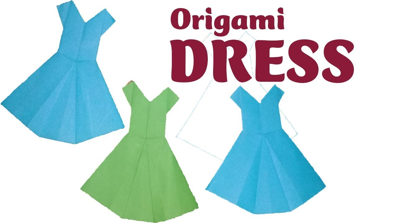 origami dress - would be cute on a 'clothes line' (With images ... | 720x1280