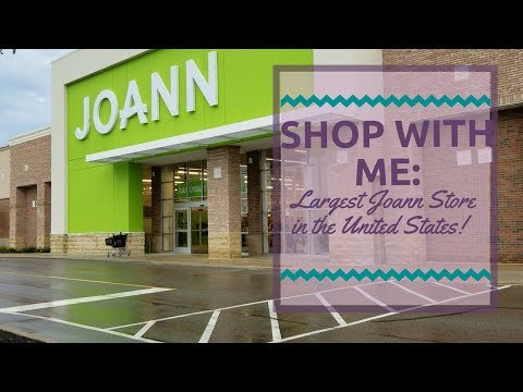 Shop With Me At The Largest Joann Store In The United States!!!