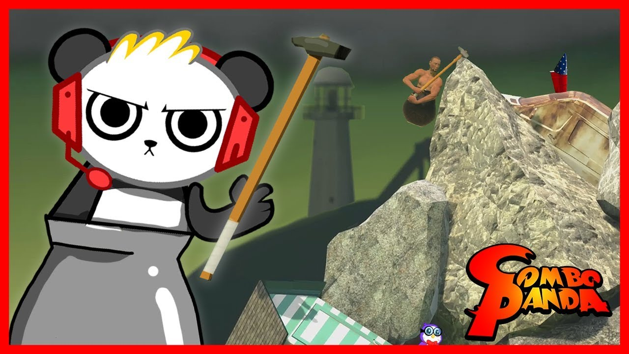 Getting Over It RAGE QUITTING Let's Play with Combo Panda