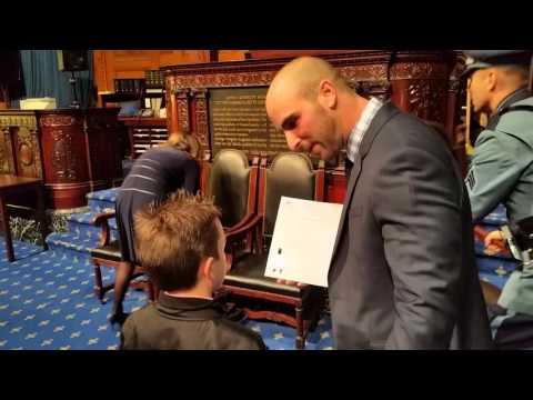 Billerica, MA State Representative  Marc Lombaro Honors A 3rd Grade Student At The Statehouse