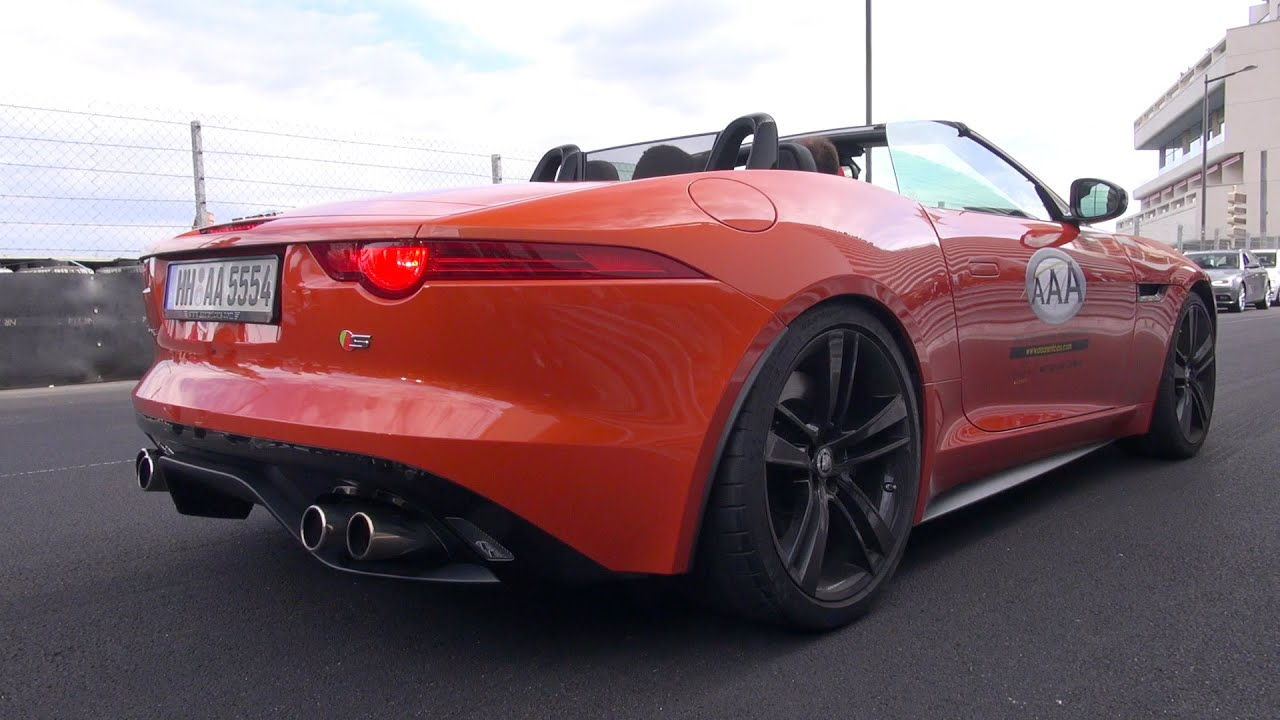 jaguar f type s v8 convertible brutal revs lovely. Black Bedroom Furniture Sets. Home Design Ideas