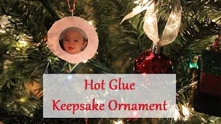 Photo Christmas Ornament Tutorial W/hot Glue | Easy Project