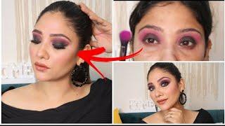 full On Galm purple black smokey look    tutorial