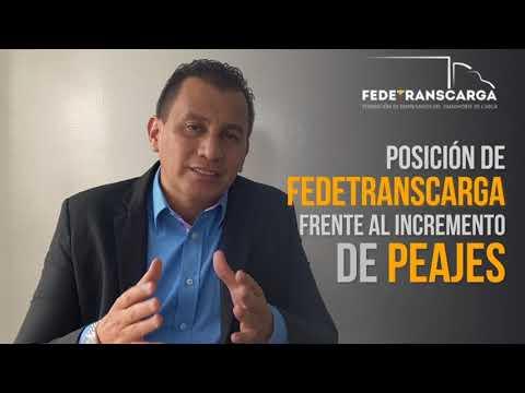 Posición de Fedetranscarga frente al incremento de peajes - Henry Cárdenas