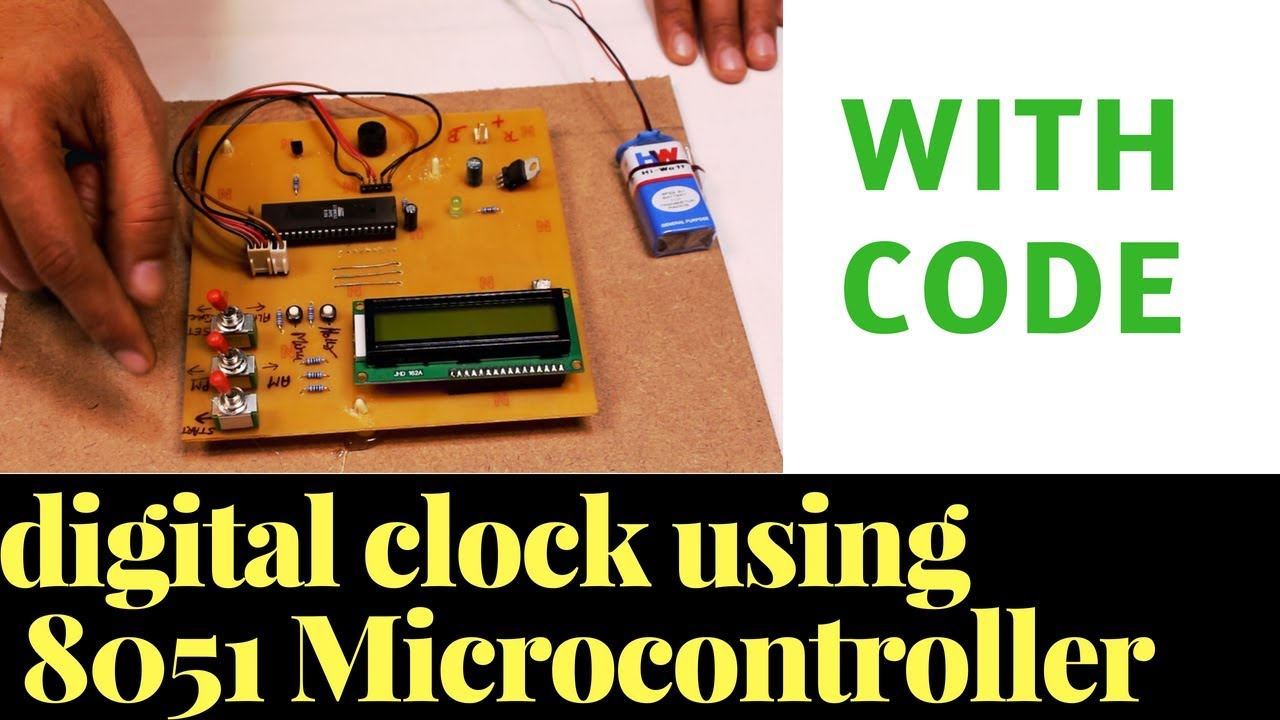Digital Alarm Clock using 8051 microcontroller [ with program and working]