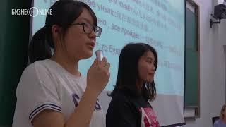 Cтуденты Пекинского политехнического института прочли Минниханову стихи Пушкина и Мусы Джалиля