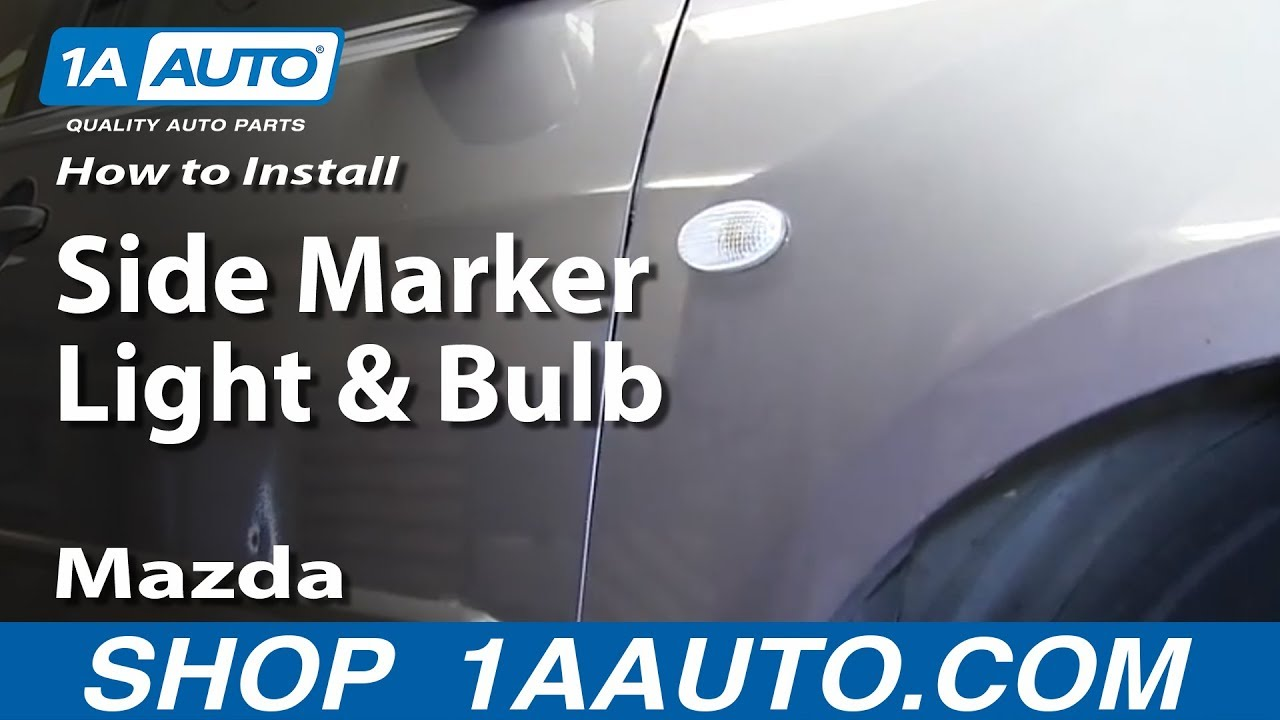 How To Install Replace Change Side Marker Light And Bulb 2004 11 Mazda 3 Youtube
