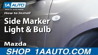 How To Install Replace Change Side Marker Light and Bulb 2004-11 Mazda 3