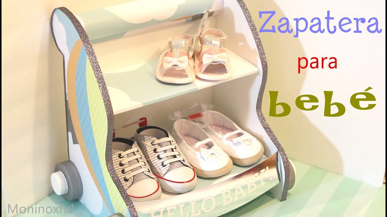 c mo hacer una zapatera para beb en forma de carrito