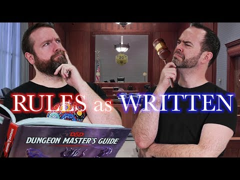 Rules as Written? | 5e Dungeons & Dragons | TTRPG | Web DM