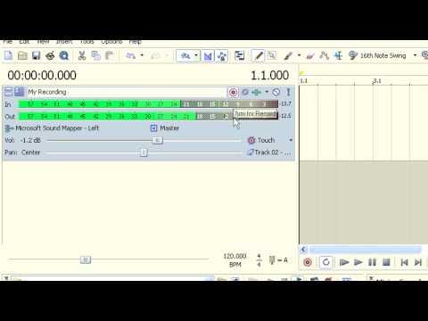 Quick Tip Video:  Record Audio In ACID Pro