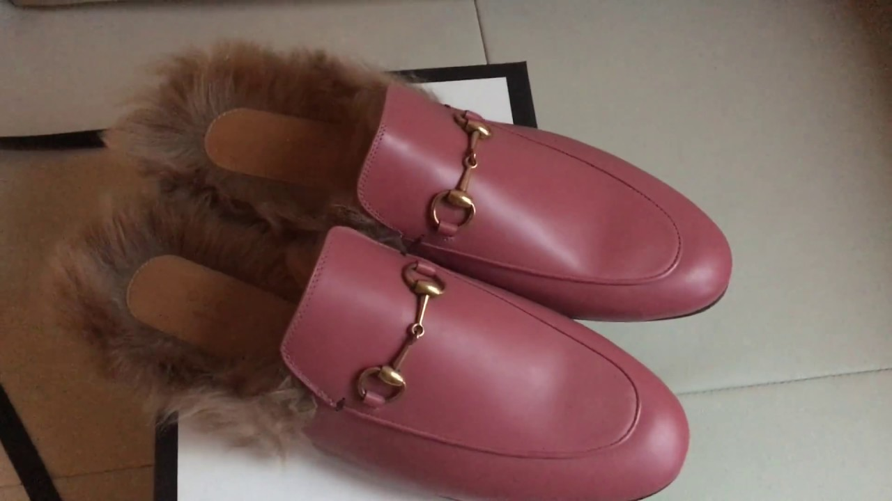 cd2bea84be2 Gucci pink Princetown leather slipper unboxing - YouTube