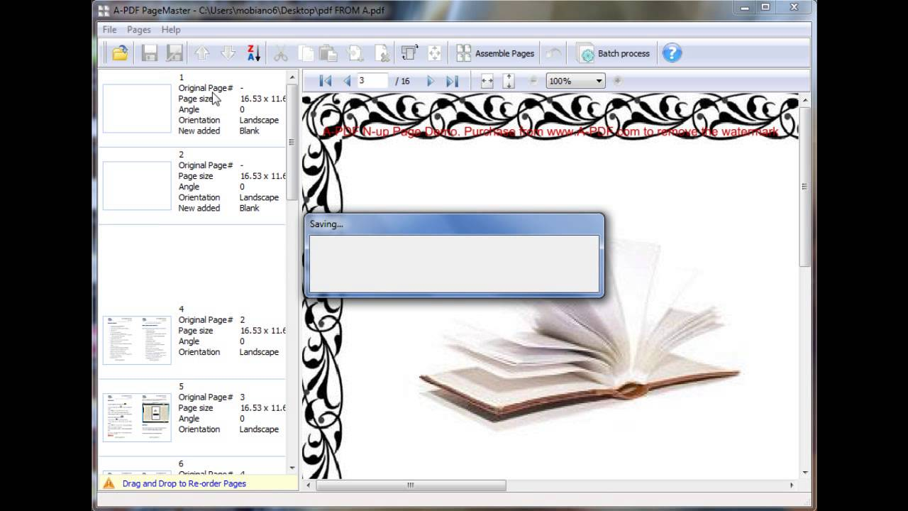 pdf page organizer tool reorder resize delete pdf pages youtube