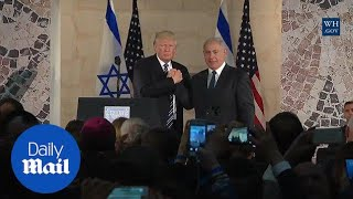 President Trump's awkward handshakes continue with Netanyahu - Daily Mail