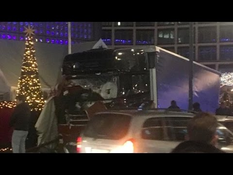 Truck crashes into Berlin Christmas market