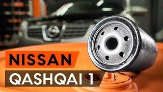 Kaip pakeisti alyvos filtrą ir variklio alyvą NISSAN QASHQAI 1 (J10) [PAMOKA AUTODOC]