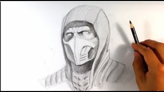How to Draw Scorpion from Mortal Kombat X - Easy Things to Draw