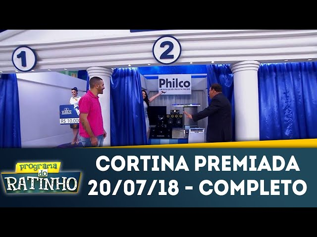 Cortina Premiada | Programa do Ratinho (20/07/2018)
