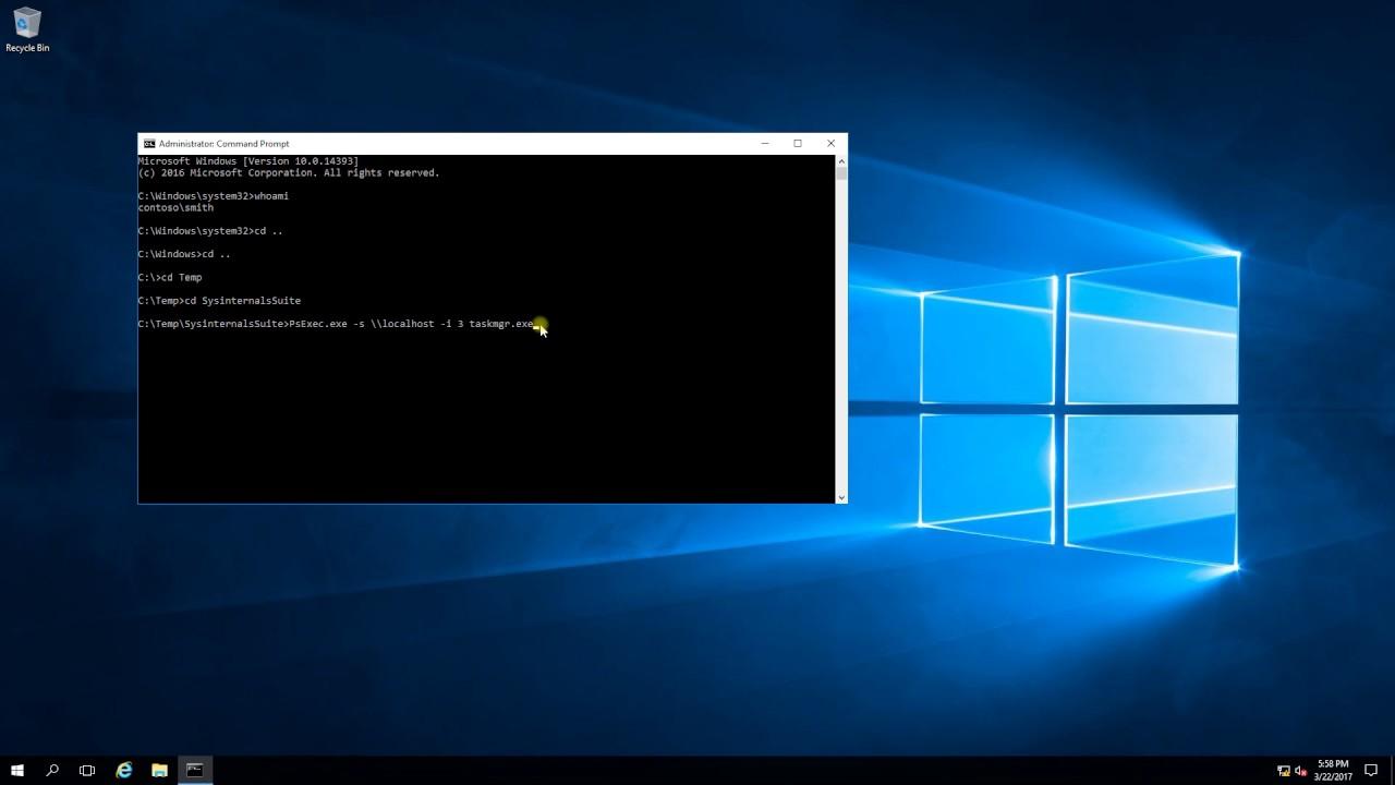 Windows Terminal Session Hijacking via psexec on Windows 2016 server