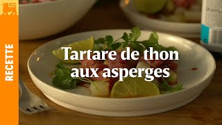 Tartare de thon aux asperges
