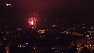 Новорічна ніч  Київ з висоти пташиного польоту