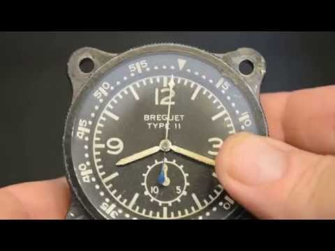 Breguet Type 11 airplane aircraft clock vintage air force number 11123