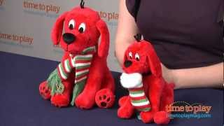 Clifford the Big Red Dog Holiday Stuffed Animals from Douglas Company