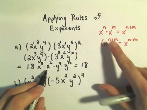 Applying the Rules of Exponents - Basic Examples #1
