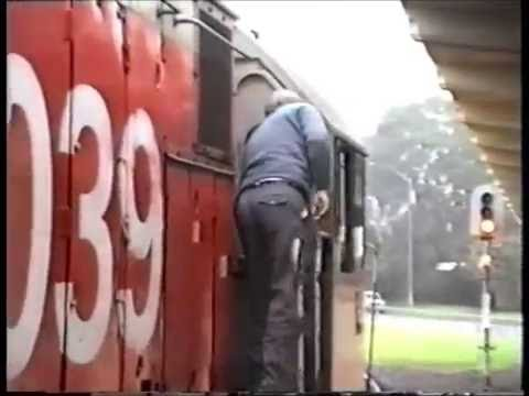 NZ railways, Overlander express Auckland to Hamilton 1992