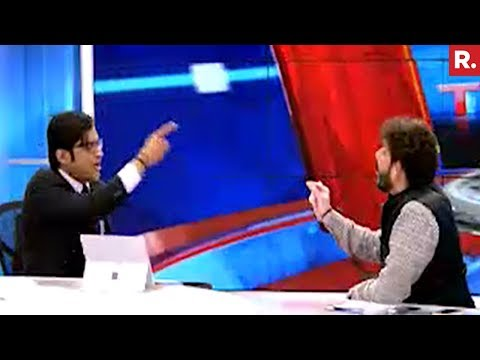 Arnab Goswami Vs Waris Pathan Over Anthem Controversy