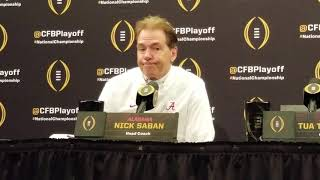 Alabama Press Conference After 44-16 loss to Clemson.