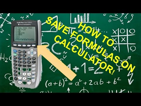 How to Store Formulas in TI 84 or 83 Plus Calculator