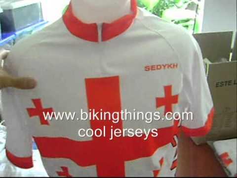 Georgia, Country Bike Jersey, Georgian Cycling Flag Shirt