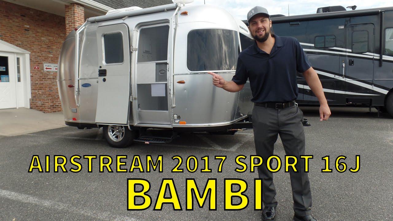 Walk Through 2017 Airstream Sport 16J Bambi Small Travel Trailer
