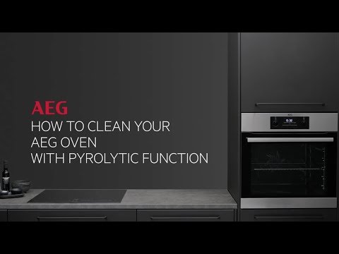 How to clean your AEG oven with pyrolytic function
