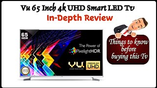 VU 65 INCHES PREMIUM UHD Pixelight HDR SMART LED TV IN-DEPTH REVIEW