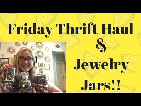 Friday Thrift Haul Jewelry Jars Too