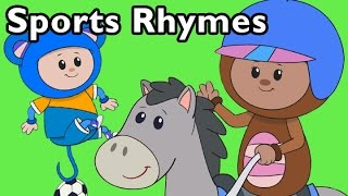 Sports Rhymes  | Nursery Rhymes from Mother Goose Club!