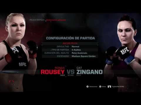 UFC PELEA DE MUJERES RONDA ROUSEY VS CAT ZANIGANO
