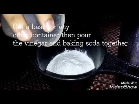 BAKING SODA + VINEGAR + WATER = All purpose cleaning