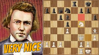 A Lesson in Rook Lifts || Morphy vs Löwenthal (1858)