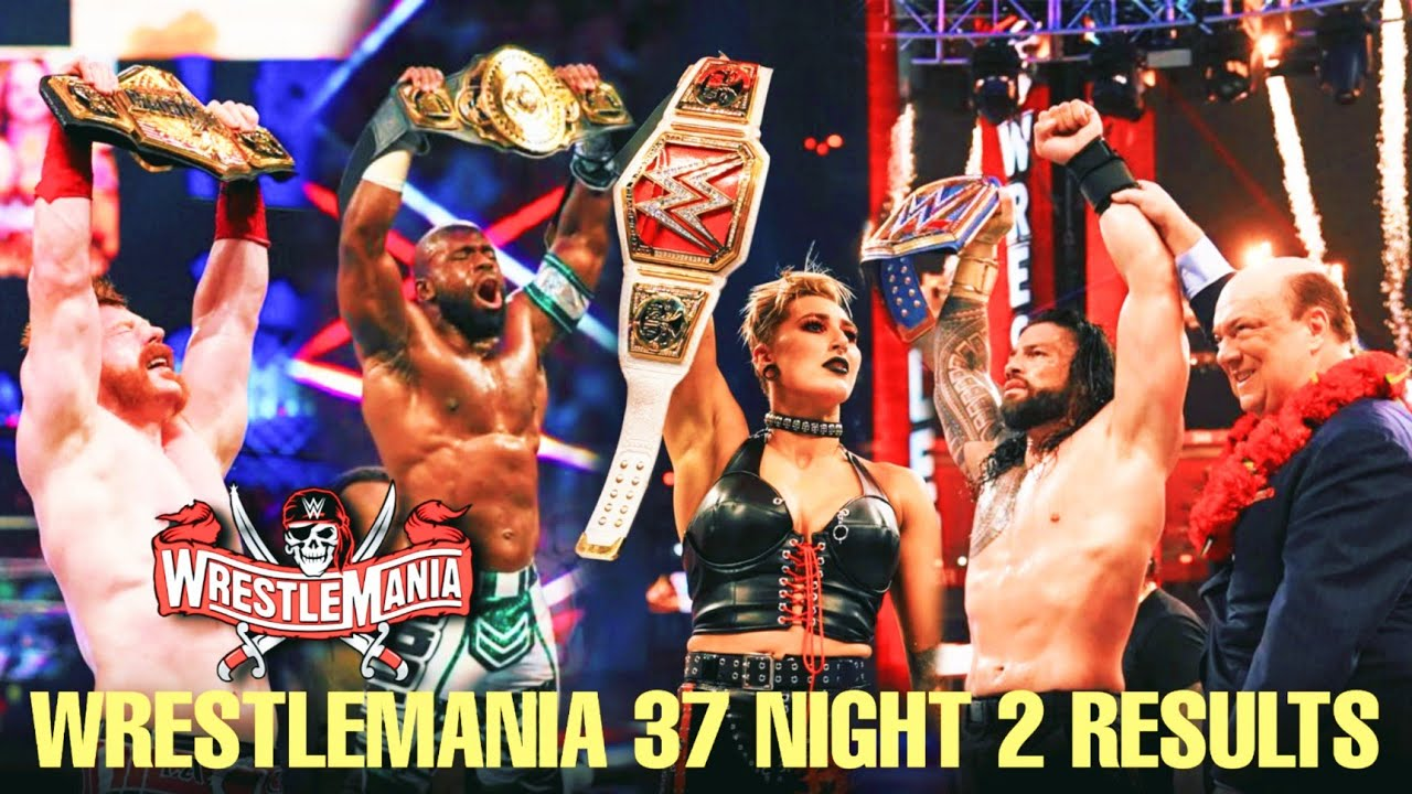 2021 WWE WrestleMania 37 results, recap, grades: Roman Reigns ...