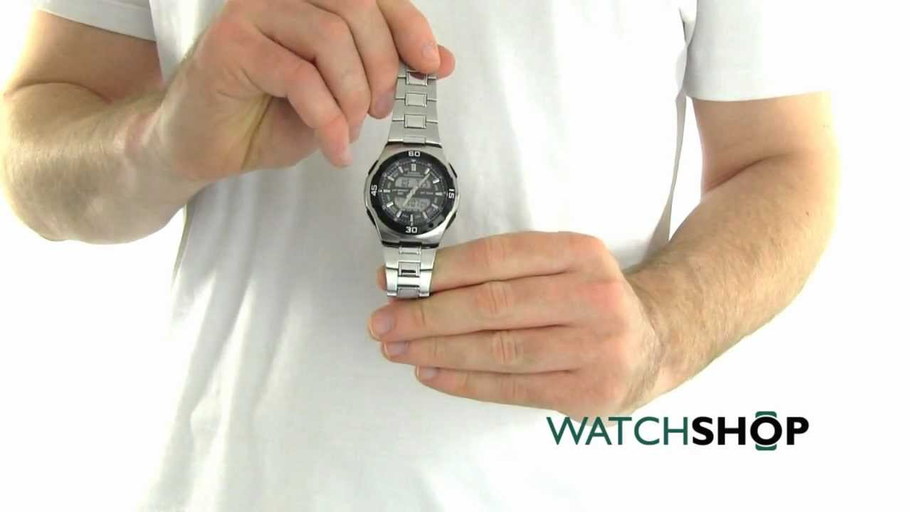 fd078b6472d Men s Casio Sports Alarm Chronograph Watch (AQ-164WD-1AVES) - YouTube