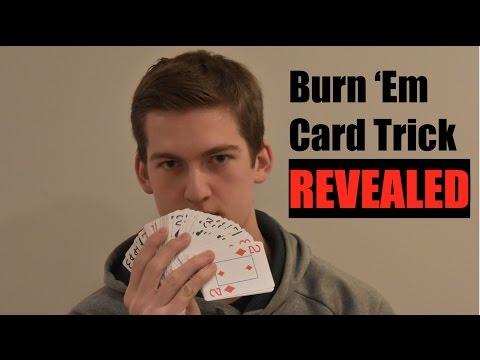 Super Easy Card Trick Tutorial Burn Em Trick